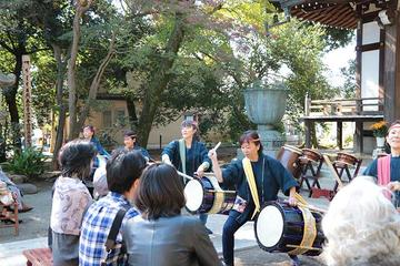 Taiko Drum Experience at Historic Temple in Tokyo