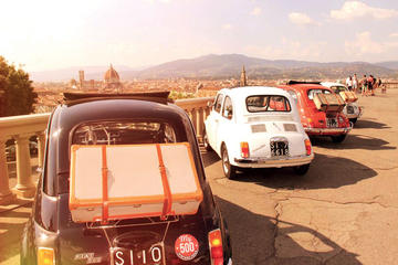 Excursion en Fiat500 d'époque de nuit à Florence avec dîner