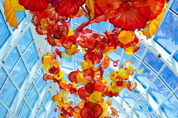 Exposición Chihuly Garden and Glass en Seattle