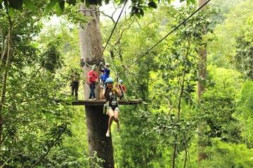 Private Führung: Radfahren und Seilrutsche ab Chiang Mai