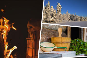 Private Lappish evening in the wilderness with traditional sauna and dinner