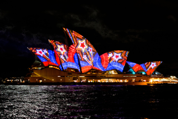 VIVID Sydney: Nächtliche Bootstour durch den Hafen von Sydney