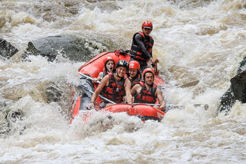 White water rafting at Maetang river...