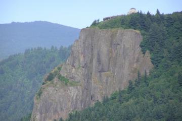 Multnomah Falls und Columbia River...