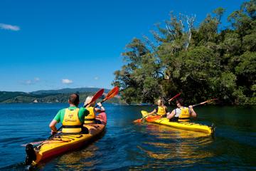 Tour en kayak des sources d'eau chaude du lac Rotoiti et des grottes...