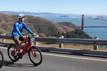 Mit dem Fahrrad über die Golden Gate...