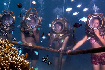 Helmet Diving underwater walking...