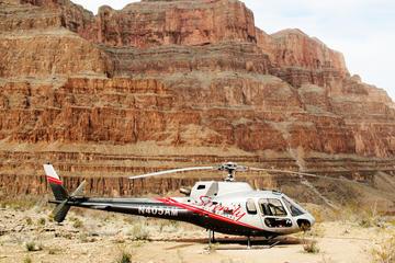 Helikoptervlucht boven de Grand Canyon met picknick bij de West Rim