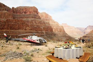 helikoptertour in Grand Canyon bij zonsondergang met diner
