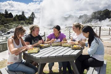 Excursão Cultural Maori Te Puia e Almoço Cozido no Vapor