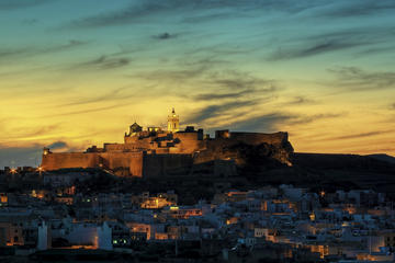 Gozo at Sunset from Valletta with...