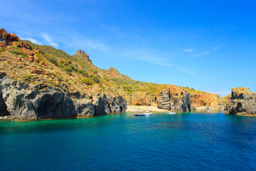 Escursione di un giorno delle Isole Eolie da Taormina: Stromboli e