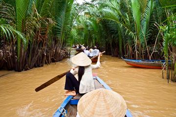 Dagtrip naar de Mekongdelta met kookles en tour naar de drijvende ...