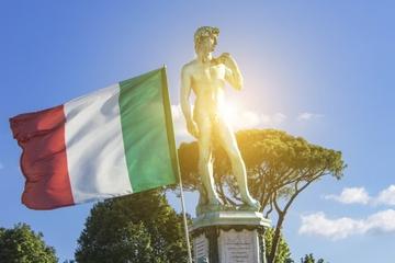 Aula de italiano e excursão a pé em Florença
