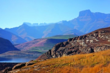 Drakensberg Mountain Range and Nelson...