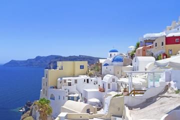 Excursão costeira em Santorini: caldeira particular, vinícola...