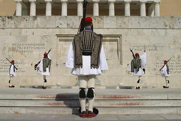 Stadswandeling door historisch Athene met de wisseling van de wacht
