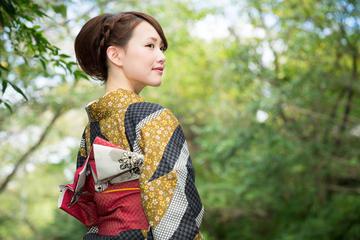 Kimono Rental - 1 DAY Plan - real silk