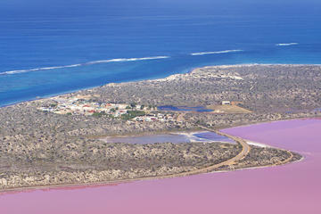 Hutt Lagoon Pink Lake Scenic Flight