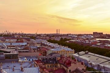 Landausflug Petersburg: Stadt, U-Bahnstationen Mittagessen in Familie