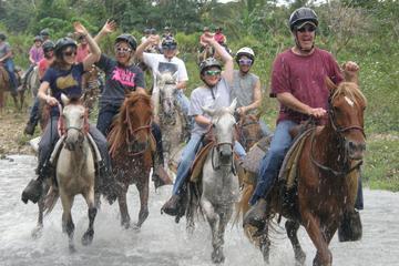 Paardrijden langs de rivier en tokkelbanen in Punta Cana