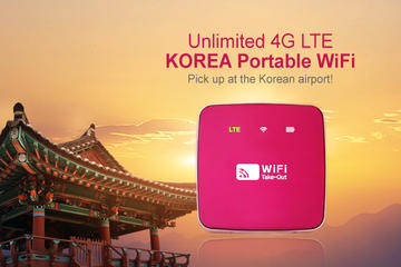 South Korea 4G LTE Portable WiFi with Incheon International Airport...