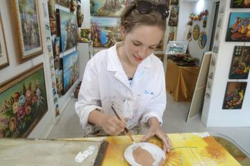 Taormina Painting Class on Cold Ceramic in Traditional Sicilian...