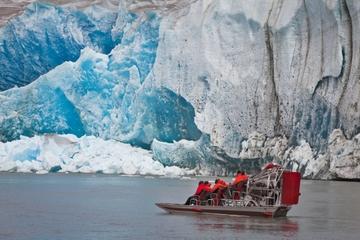 Excursão no litoral de Juneau: excursão de helicóptero e aerobarco de...