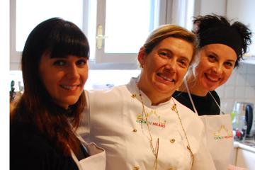 Aula de culinária italiana em Milão