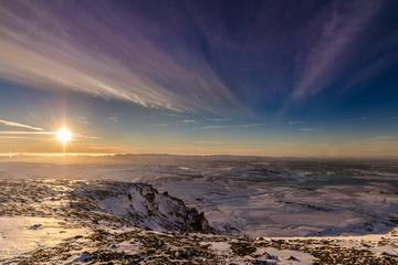 Helikoptertur i bergen med landning på toppen från Reykjavik