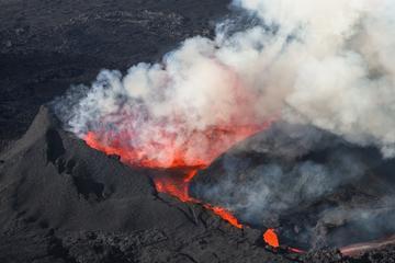 Helikoptervlucht vanuit Reykjavik: Vulkaanuitbarsting