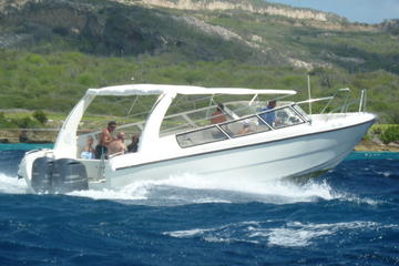 Blue Room and Beach Tour of Curacao by Speedboat