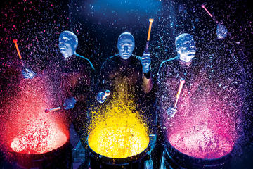 Espectáculo del Blue Man Group en Universal Orlando Resort