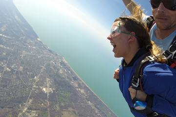 Day Trip Tandem Skydiving Experience in Chicago near Michigan City, Indiana