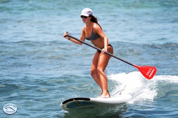Aula de stand-up paddleboard na Big Island