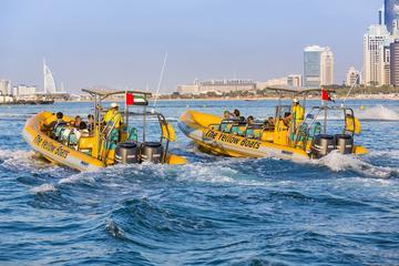 Båtcruise i Dubai med RIB: Palm Jumeirah og Dubai Marina