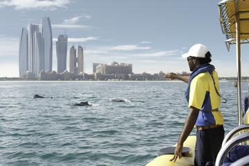 Cruzeiro turístico por Abu Dhabi, em bote inflável