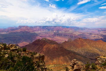 Visite des monuments du Grand Canyon en avion