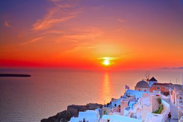 Excursão ao pôr do sol em Oia e vilas...