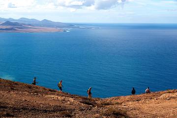 Visita guiada de senderismo por el volcán de Lanzarote