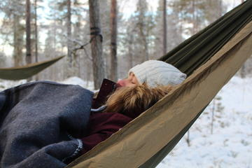 Cocooning in the HaliPuu forest: The ultimate Arctic hammock...
