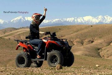2 Hours quad bike at landscape of Marrakech and Spa Hamam from Casablanca