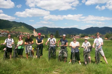 Balade en vélo en petit groupe dans les domaines viticoles de la...