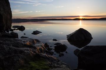 Balade à pied avec prises de vues au lever du soleil à Djurgarden...