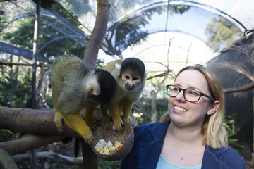 Squirrel Monkey Encounter and a day at Adelaide Zoo
