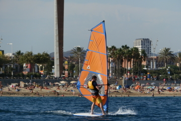 Windsurfles in Barcelona