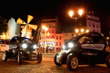 Excursão em carro elétrico por Paris à noite com guia de áudio por GPS
