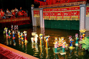 Hanoi Evening Tour with Water Puppet Show & Dinner