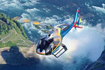 Helikoptervlucht over de Niagarawatervallen