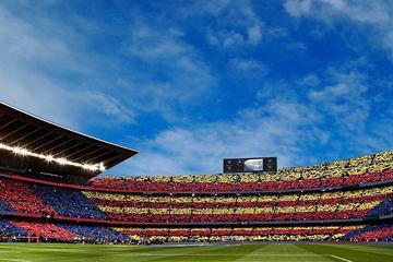 Fotbollsmatch med FC Barcelona på Camp Nou